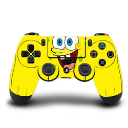 PS4 Controller Skin Spongebob PVC HD PS4 Sticker Cover For Sony PlayStation 4 Wireless Controller