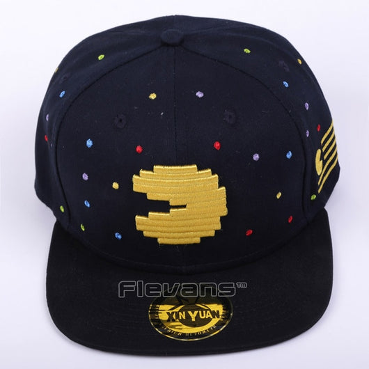 Pacman Cosplay snappback cap
