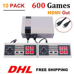 10PCS HDMI HD Out Mini TV Game Console Video Game Console with 600 Different Built-in Games PAL & NTSC