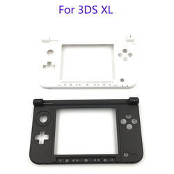 Nintendo 3DS XL Replacement Hinge Part Black Matte Bottom Middle Shell / Housing