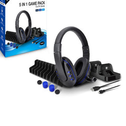 Cable Microphone Gaming Headset for PS4