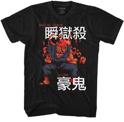 Street Fighter Raging Demon Akuma Capcom Video Game Adult T Shirt
