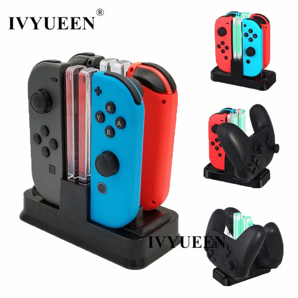 6 in 1 For Nintend Swicth and NS Pro Controller Charging Dock Stand Station With Led Indicator Cable
