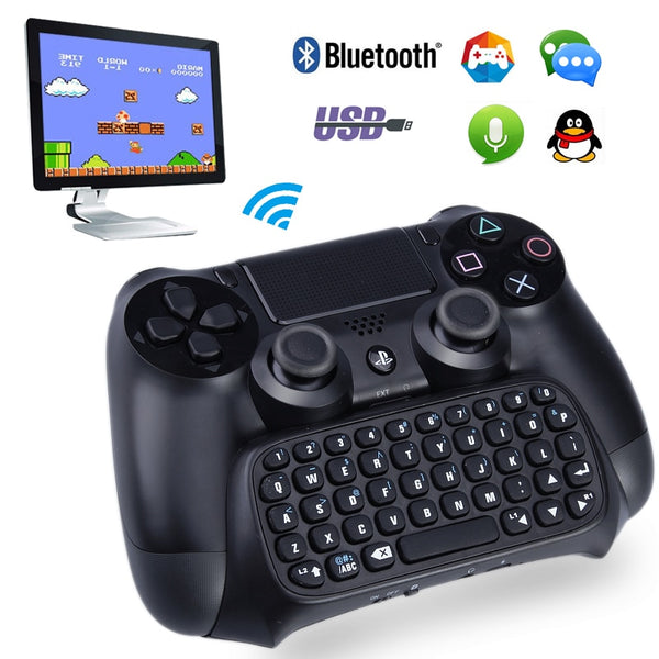 Wireless Bluetooth mini keyboard video game gamepad For Sony playstation 4 controller