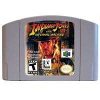 Indiana Jones and the infernal machine English Language for Nintendo 64  USA Version Video Game Cartridge