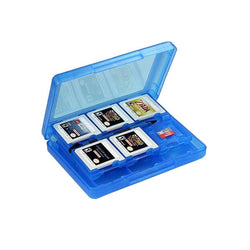 Blue 28-in-1 Game Memory Card Case Holder Cartridge Storage for Nintendo 3DS LL/XL