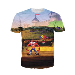 3D Retro Crash Bandicoot T shirt