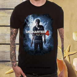 Uncharted 4 Cover Art a Thief's End Official Video Game novelty T shirt