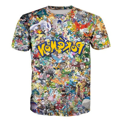 Amazing 3D Original 150 pokemon T-Shirt