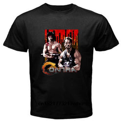 Contra Retro Action Movie Video Game Novelty T Shirt