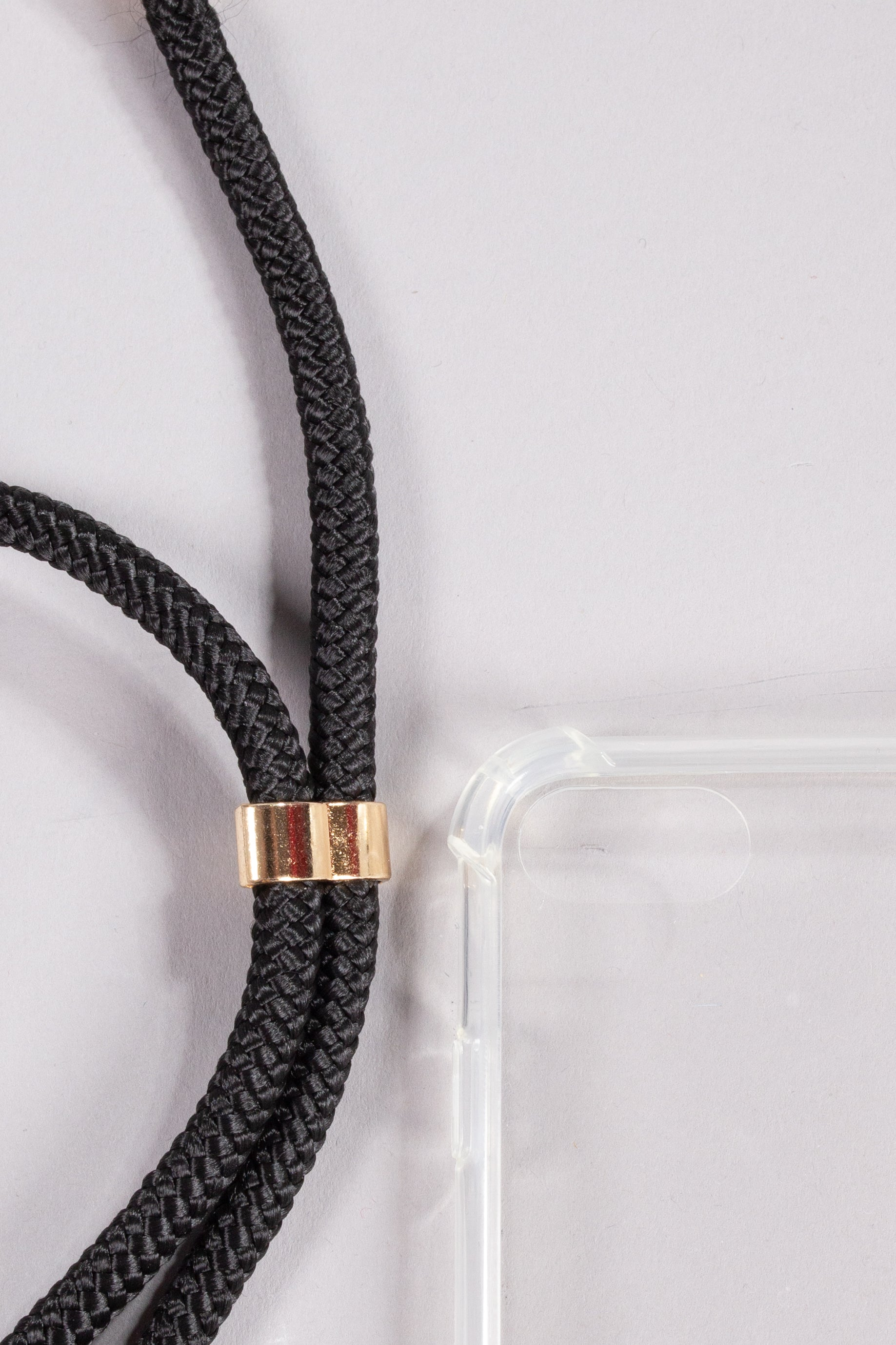 Phone Necklace - Plain Black