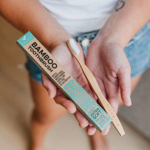 Single Bamboo Toothbrush With Extra Soft Bristles