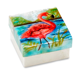 Flamingo Small Trinket Box (1236B)