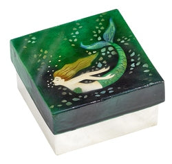 Mermaid Small Trinket Box (1547G)