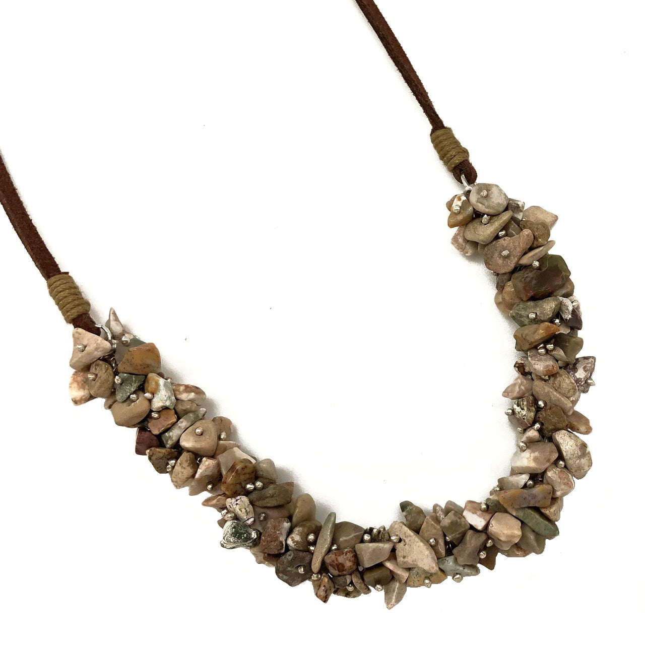 Unakite Spirit Stone Necklace (SSN1U)