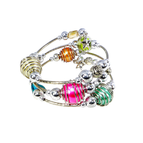 Multi Colored Coil Bracelet