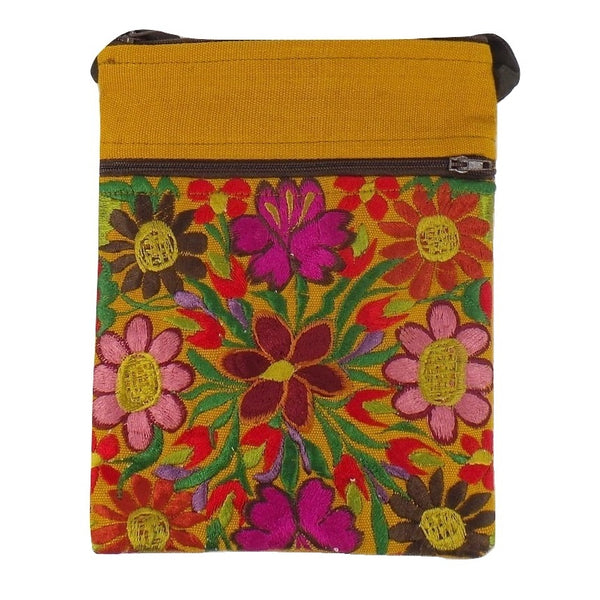 Gold Embroidered Passport Bag (EA32)