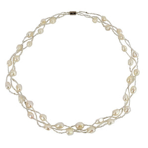White Freshwater Pearl Necklace (F023)