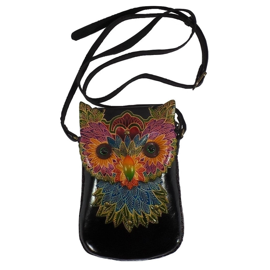 Colorful Owl Cross-body Purse (AY43)