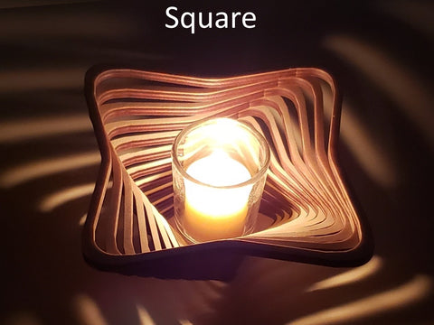 Square Candle Holder
