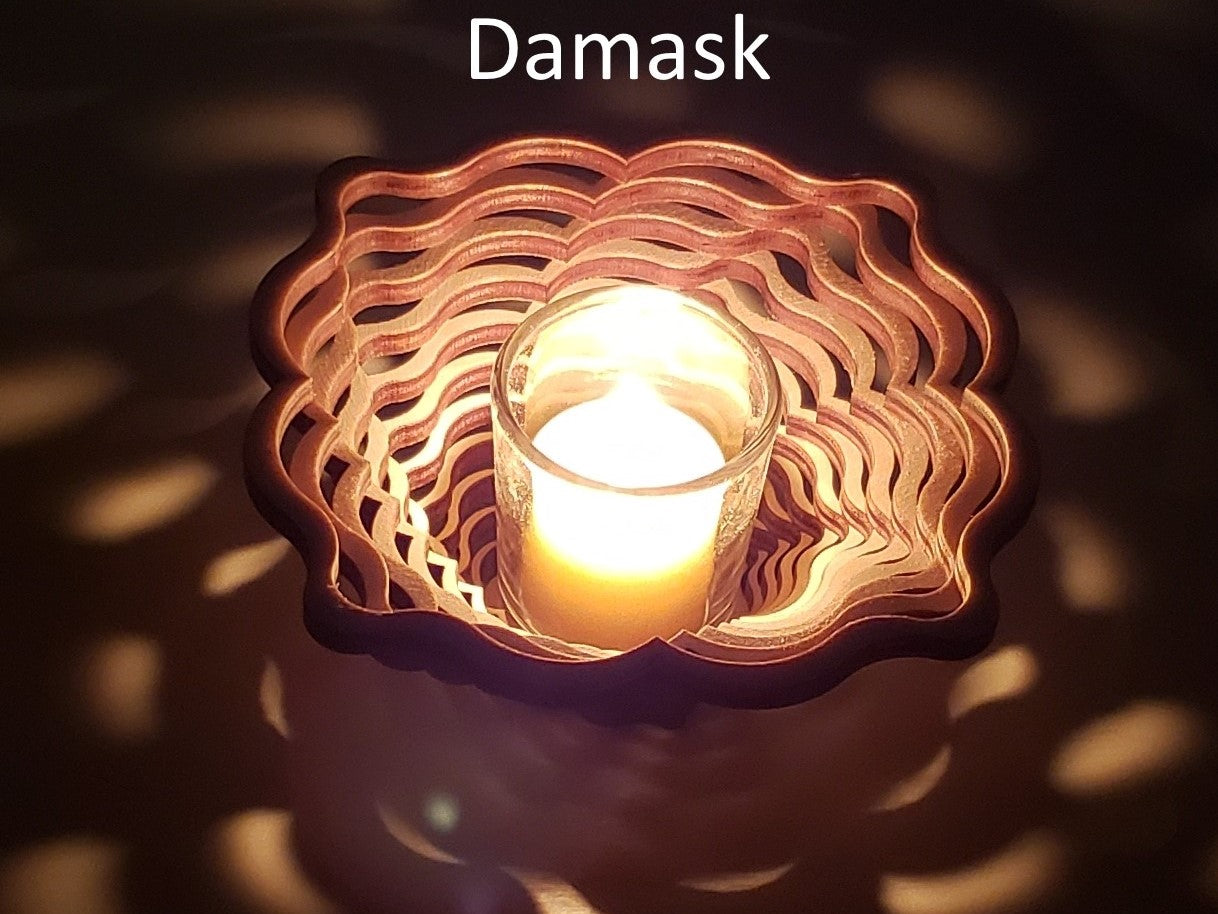 Damask Candle Holder