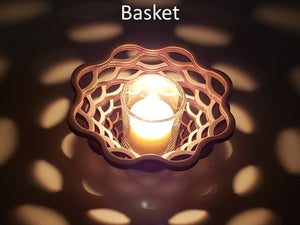 Basket Candle Holder