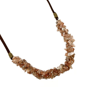 Pink Agate Spirit Stone Necklace (SSN1AG)