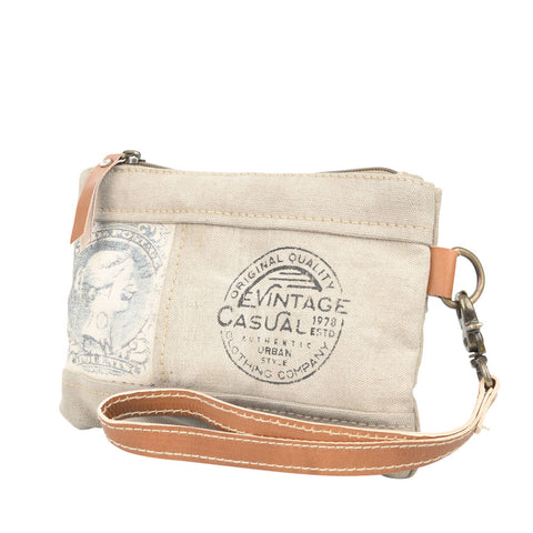 Canvas Stamp Wristlet Pouch (55516)