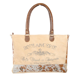 Boulangerie Tote with Cowhide Trim (55558)