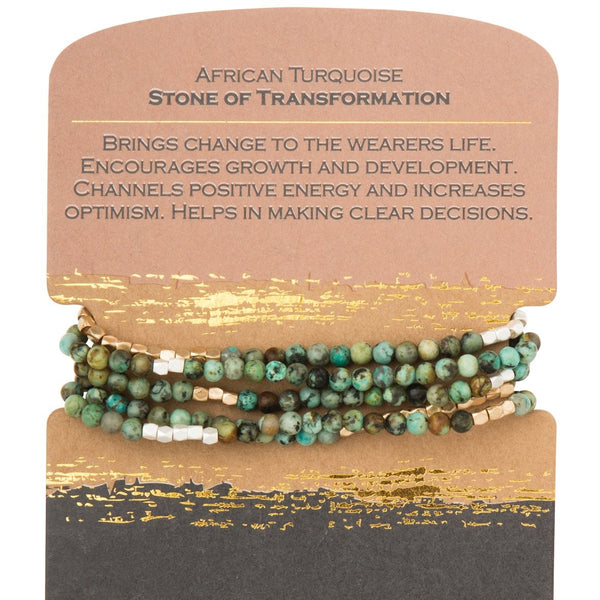 African Turquoise-Stone of Transformation (SW021)