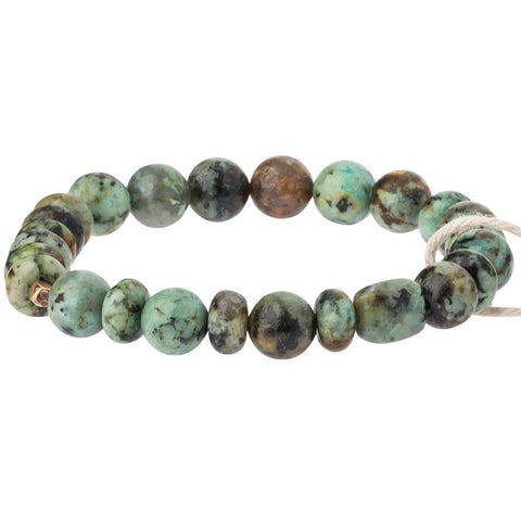 African Turquoise Stone Bracelet-Stone of Transformation (SS006)