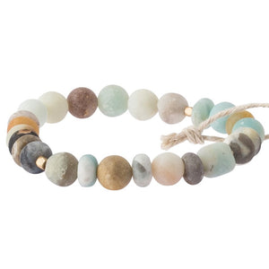 Amazonite Stone Bracelet-Stone of Courage (SS004)