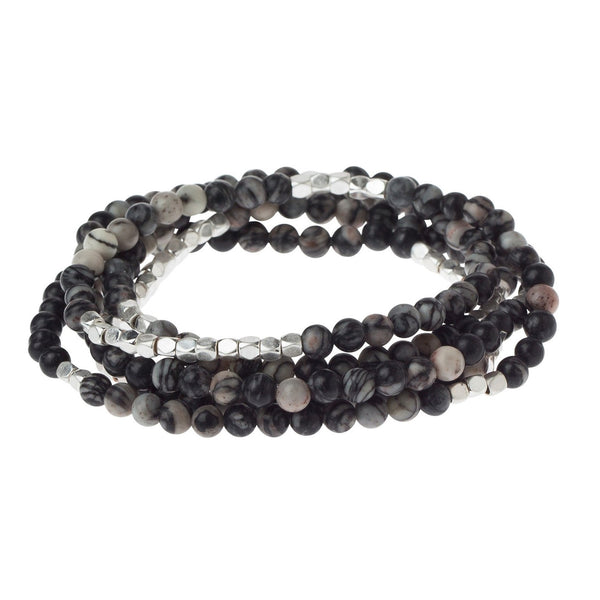 Black Network Agate - Stone of Inner Stability (SW009)