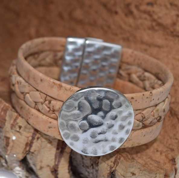 All Natural Weaved Cork Bracelet (B76B)