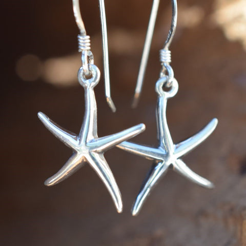 Sterling Silver Starfish Earrings (E12)