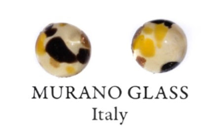 Yellow Murano Glass Earrings (E27-2)