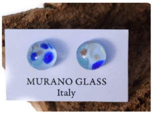 Blue Murano Glass Earrings (E28)