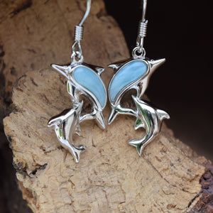 Dolphin Larimar Earrings (E34)