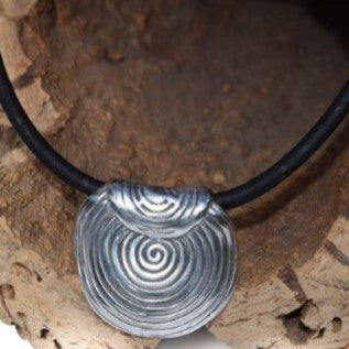 Spiral Pendant Cork Necklace (N3B)