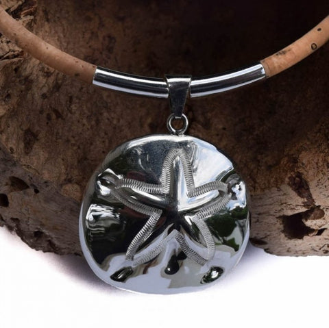 Sterling Silver Sand Dollar Necklace (N62)