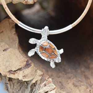 Sterling Silver Turtle Necklace (N91)