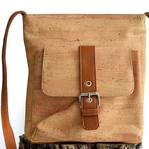 Cork Buckle Strap Messenger Bag