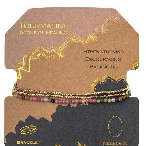 Delicate Stone Tourmaline/Gold - Stone of Healing (SD019)
