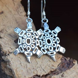 Sterling Silver Turtle Earrings (E19)