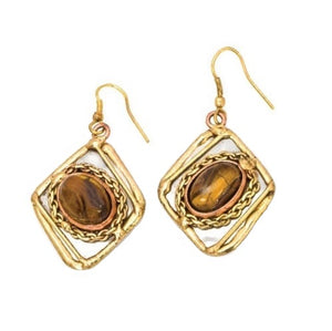 Tiger Eye Earrings (E2204)