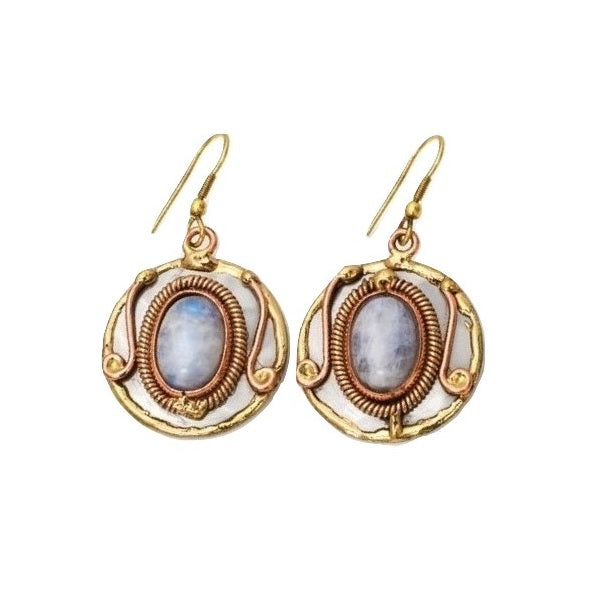 Rainbow Moonstone Earrings (E2212)