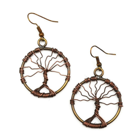 Twisted Tree of Life Earrings (E3136)