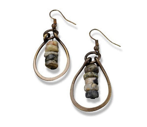 Tear Drop Agate Earrings (E3204)