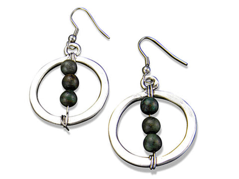 Jasper Globe Earrings (E3205)