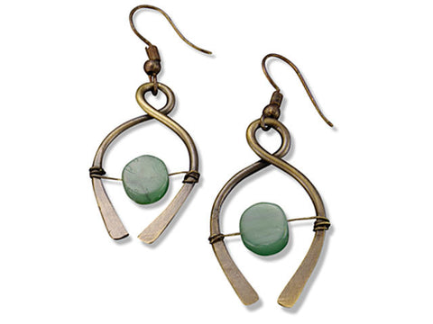 Aventurine Double Wishbone Earrings (E3125)